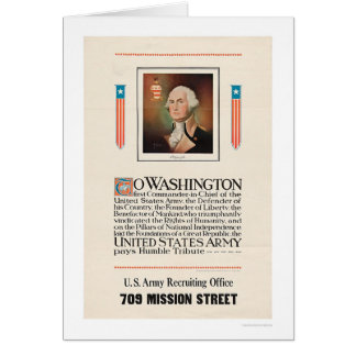 Army Tribute to Washington Card