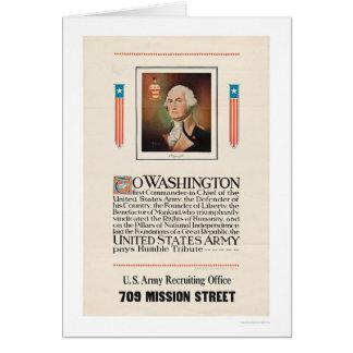 Army Tribute to Washington Greeting Card