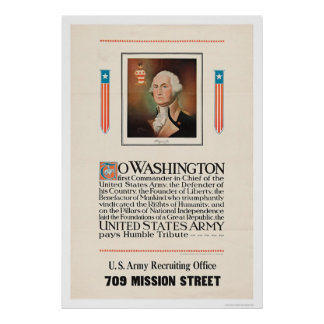 Army Tribute to Washington Poster