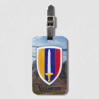 Army USARV Vietnam Nam War Vets Patch Luggage Tag