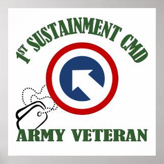Army Veteran - 1st TSC Print