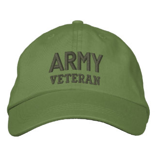 Army Veteran Military Embroidered Hats