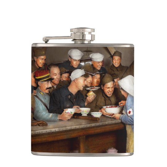 Army - War buddies 1918 Hip Flask