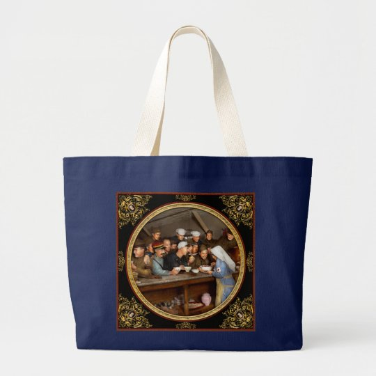 Army - War buddies 1918 Large Tote Bag