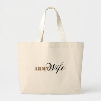 Army wife1 jumbo tote bag