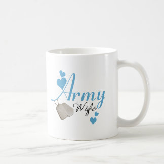 Army Wife (blue) Coffee Cup Basic White Mug