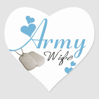 Army Wife (blue) Stickers