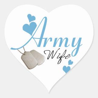 Army Wife (blue) Stickers