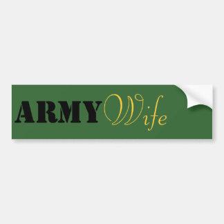 Army Wife. Bumper Stickers