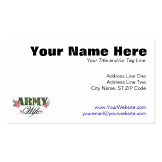 Army Wife Business Cards
