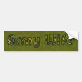 Army wife camouflage bumper sticker