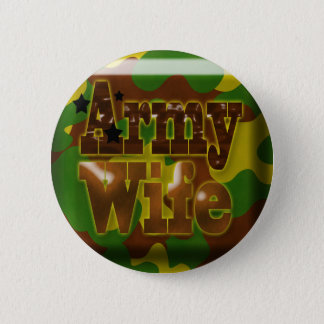 Army Wife Camouflage Button