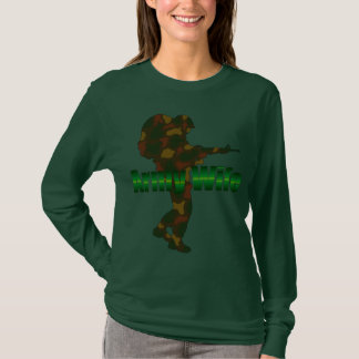 Army Wife Camouflage Soldier T-Shirt