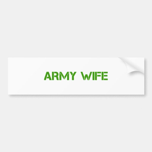 army-wife-clean-green.png bumper sticker