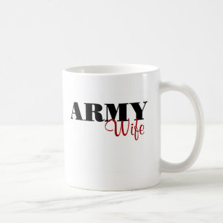Army Wife (cursive) Coffee Mug