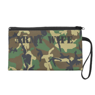Army Wife Customize Camouflage Bagettes Bag Wristlet Clutch