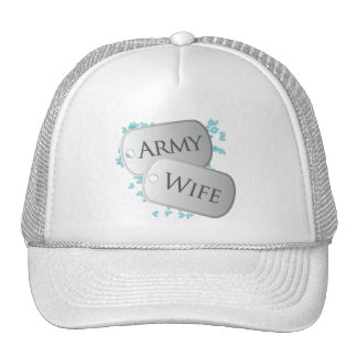 Army Wife Dog Tags Cap