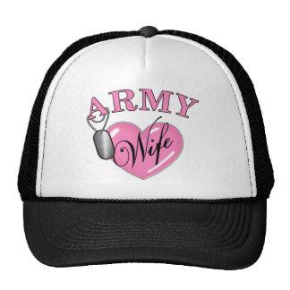 Army Wife Heart N Dog Tag Hats