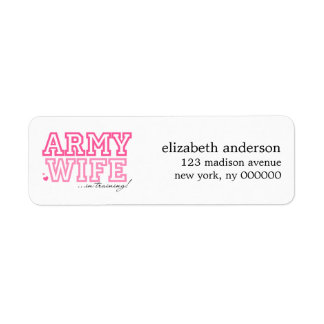 Army Wife in Training Address Labels