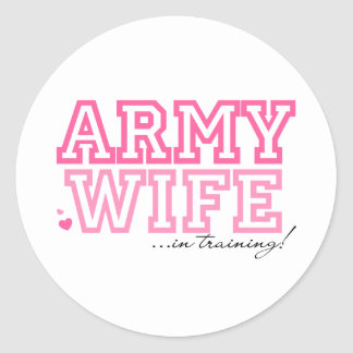 Army Wife in training Stickers