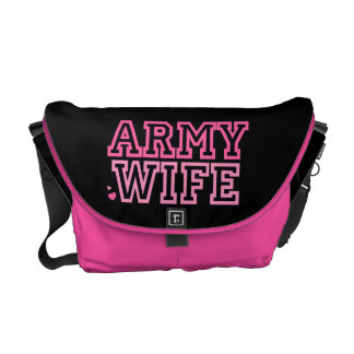 Army Wife {pink} Messenger Bag