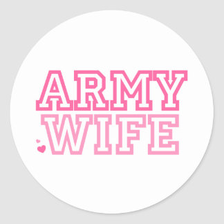 Army Wife (pink) Round Sticker