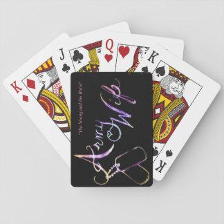 Army Wife Poker Deck