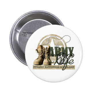 Army Wife - Proudly Supporting my Soldier Button
