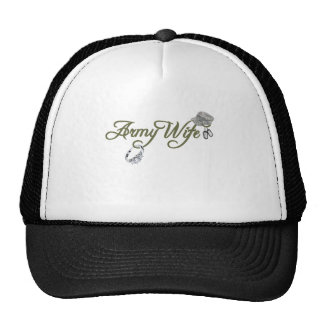 army wife-ring, dog tag, hat- green cap