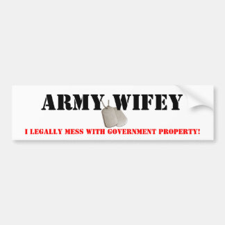 Army Wifey Bumper Sticker