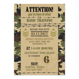 Army Woodland Camouflage Military Birthday Card