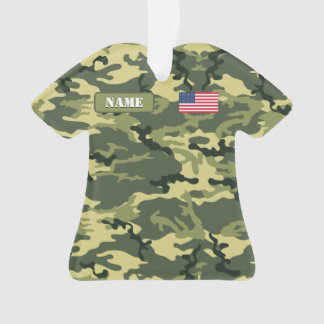 Army Woodland Camouflage Ornament