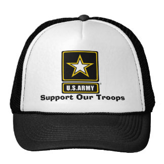 armylogotranspbkgd, Support Our Troops Mesh Hats