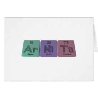 Arnita as Argon Nickel Tantalum Card