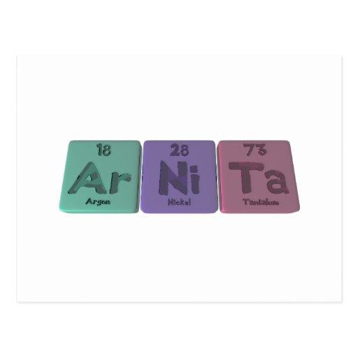 Arnita as Argon Nickel Tantalum Post Card