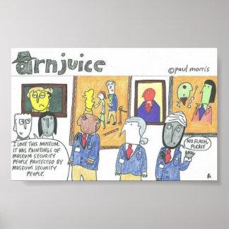 Arnjuice-museum security paintings poster