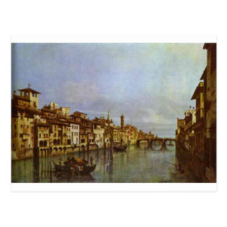 Arno in Florence by Bernardo Bellotto Postcard