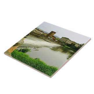 Arno River 1 Large Square Tile