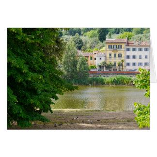 Arno River Florence Italy Card