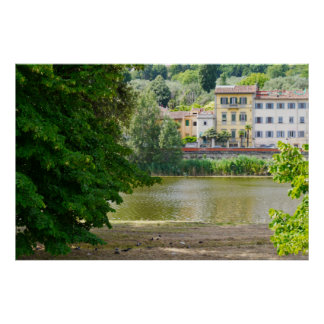 Arno River Florence Italy Poster