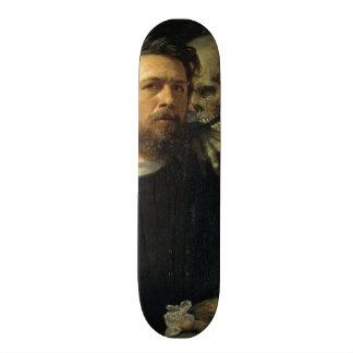 Arnold Böcklin - Self-Portrait with Death Skateboard Deck