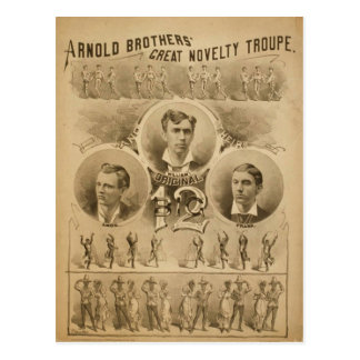Arnold Brothers, 'Great Novelty Troupe' Retro Thea Postcard