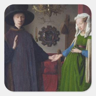 Arnolfini Marriage (by Jan van Eyck) Square Sticker