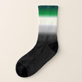 Aro Ace gradient pride flag socks mismatch