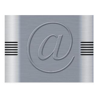Arobase aluminium brossé cartes postales
