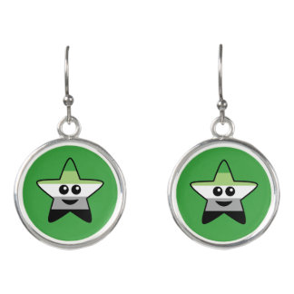 Aromantic Star Drop Earrings