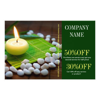 Aromatherapy Essential Oil beauty SPA massage 14 Cm X 21.5 Cm Flyer
