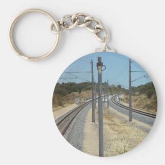 Around The Bend Burns Beach Railroad Bridge In Cur Keychains