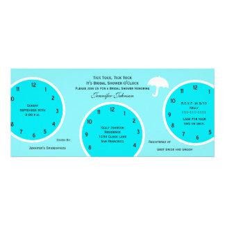 Around the Clock Bridal Shower Invitation Blue Personalized Invite