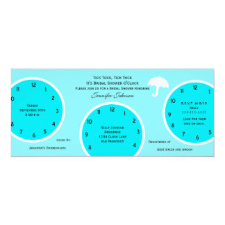 Around the Clock Bridal Shower Invitation Blue